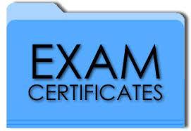2020 Exam Certificates